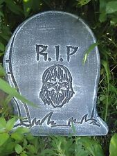 "plastic Halloween scary face Tombstone mould mold 12"" x 10.5"" x 1.20"" thick"