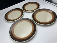 "Imperial by W. Dalton- P9851- MOCHA- Lot of 4 Dinner Plates- 10 3/4"" - GREAT!"