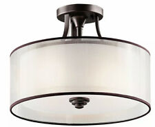 Kichler Lighting-Lacey - Three Light Semi-Flush Mount  Mission Bronze