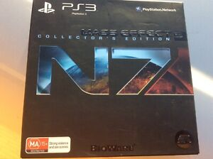 PS3 PlayStation 3 - Mass Effect 3 N7 Collectors Edition RARE Steelbook + More