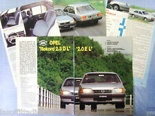 QUATTROR983-PROVA SU STRADA/ROAD TEST-1983- OPEL REKORD 2.3 DL -5 fogli