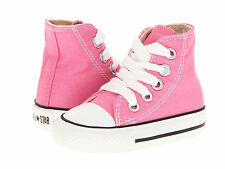 NEW INFANT TODDLER CONVERSE CHUCK TAYLOR ALL STAR HI PINK 7J234 ORG SO CUTE
