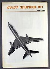 COURT LINE SCRAPBOOK NO1 AIRLINE BROCHURE MARCH 1974 L1011 LOCKHEED TRISTAR