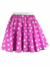 Girls Polka Dot Rock n Roll 50s Skirt & Scarf Fancy Dress Jive Costume