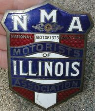 Early Enamel National Motorists Association NMA ILLINOIS Radiator Attachment