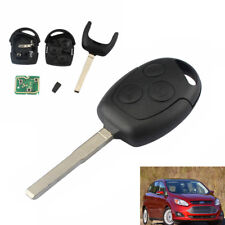 3 Button Auto Remote Key Fob+Flat blade For Ford Focus C-Max S-Max Fiesta Galaxy