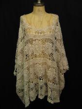 Mes Demoiselles Lois Ecru One Size Knit Poncho Sweater  $504