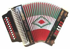 Rossetti 3112 AZTECA GCF Sol 31 Button Diatonic Accordion Red White Green Black