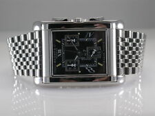 BEDAT 778 CHRONOGRAPH BLACK DIAL QUARTZ STAINLESS STEEL WATCH