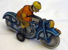 Vintage 1960s Tin Litho Friction Toy MOTORCYCLE,  Ballon Cordatic-Lemez