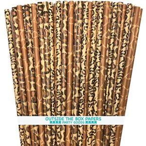 75 Animal Print Paper Straws