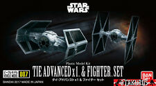 Tie Advanced x1 & Fighter Set Star Wars Vehicle Model Kit Bandai Japan
