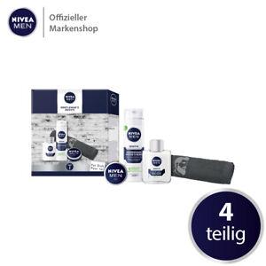 NIVEA MEN Gentleman's Basics Geschenkset 4 tlg. AfterShave Rasierschaum Handtuch