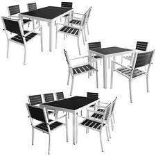 vidaXL Tavolo e Sedie da Giardino Alluminio WPC Tavolino 5/7/9 pz
