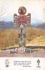 Totem Pole southeastern Alaska 1940s Postcard
