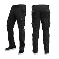 Mens Combat Cargo Work Trousers Size 30 to 38 Pants With KNEE PAD POCKETS