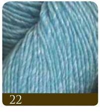 Lanas e hilos color principal azul de seda