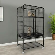 Luxury 3-Tier Cat Ferret Cage Portable Large Home Fold Pet Animal Cage Playpen