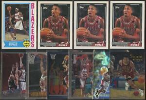91-92/98-99 Topps/Chrome Label x10 Lot SCOTTIE PIPPEN Card Bulls NBA HOF JE293