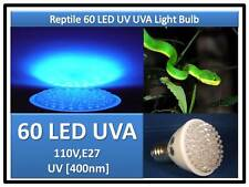 Snake Turtle Lizard Reptile 60 Led Uv Uva Light Bulb 110V E27 Usa Engineer Cert