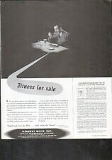 1942 GENERAL MILLS AD- FITNESS for SALE