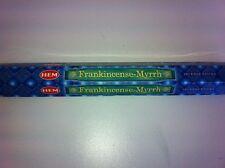 HEM INCENSE STICKS 20 PER BOX FRANKINCENSE & MYRRH