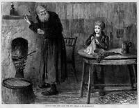 OLIVER TWIST AND FAGIN THE JEW BY SOL EYTINGE OLIVER TWIST VINTAGE ENGRAVING