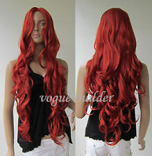 """35"""" Long Copper Red Spiral Wavy Cosplay Hair Wig 135#"""