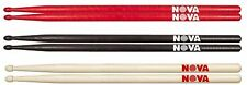 More details for 1 pair vic firth nova 5a drumsticks - wood tip - choice of red, black or natural
