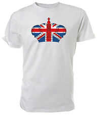 Best of British, Union Jack Crown T shirt - Choice of size & colours.