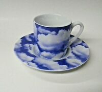 Fluffy Clouds Demitasse Cup and Saucer Set by Konitz  Made in Germany