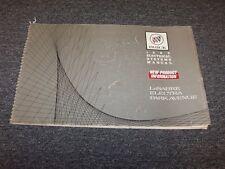 1989 Buick LeSabre Electra Park Avenue Factory Electrical Wiring Diagram Manual