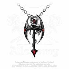 Gothic Kreuz Drachen Dragon Drache Anhänger Halskette Amulett ALCHEMY P417