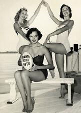 Bathing suit models 1955 Orange Bowl 8 x 10 Photograph