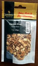 Dried LEMON PEEL (1oz) used for Homebrew / Craft / Specialty Beer Brewing
