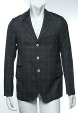 JUNYA WATANABE COMME DES GARCONS MAN Gray Plaid Pearl Button Jacket Blazer M NEW