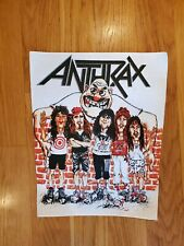 Vintage Anthrax Patch State Of Euphoria 1988 Back Patch Original