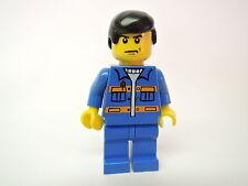 Lego Figur City Mann blauer Anzug orange Streifen cty139  Set 7642