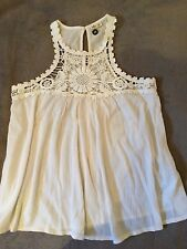 HOLLISTER, New Ladies/Girls White  Summer Top, size XS