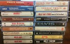 18 Lot POP ROCK  Country CASSETTE TAPES WHITNEY HOUSTON Madonna Alabama Journey