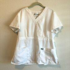 Greys Anatomy Womens Scrubs Top White Style 4153 Size XL