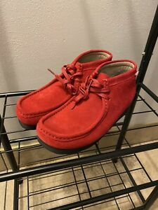 Clarks Wallabee Red Size 8