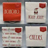 Rae Dunn Holiday Christmas Napkins Merry Cheer Holly Ho Ho  #1471 1473 1474 1475