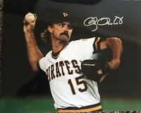 DOUG DRABEK  PITTSBURGH PIRATES  1990 NL CY   ACTION SIGNED 8x10 Gdst Holo