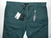 New Ted Baker Slim Fit W38 L32 Mens Green Chinos Trousers