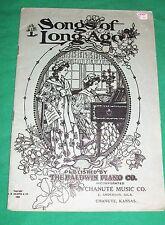 1905 CHANUTE MUSIC COMPANY KANSAS BALDWIN PIANO SONGS OF LONG AGO OLD BOOK