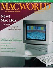 """ITHistory (1989/04) Magazine: MACWORLD """"New Mac II/CX PageMaker Quark""""  Ads!"""