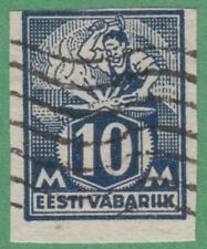 Estonia Scott #64 used 10m Blacksmith imperf 1922 cv $16