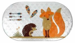 Mainstays Woodland Creatures Porcupine Hedgehog Fox Cushioned Oval Bath Mat