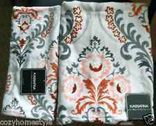 MEDALLION FLORAL LUXURY 100% COTTON VELOUR 2PC BATH TOWEL SET BY KASSA FINA